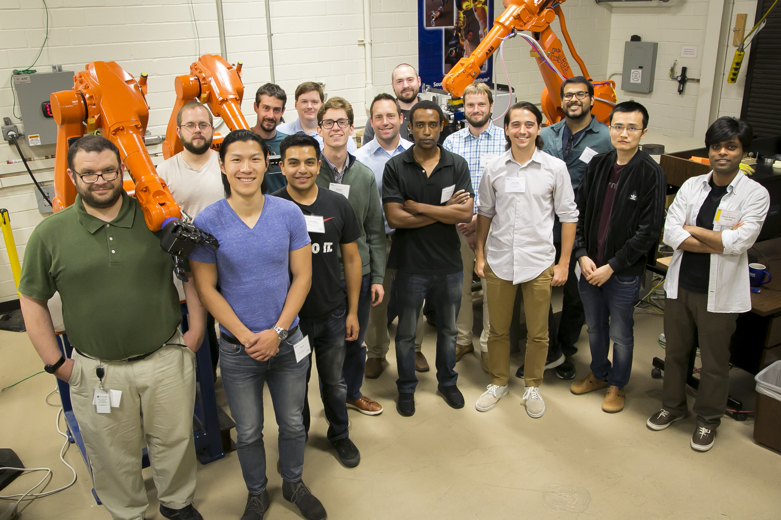 THE FULL CLASS WITH SWRI ROS-INDUSTRIAL SUPPORT STAFF INCLUDED