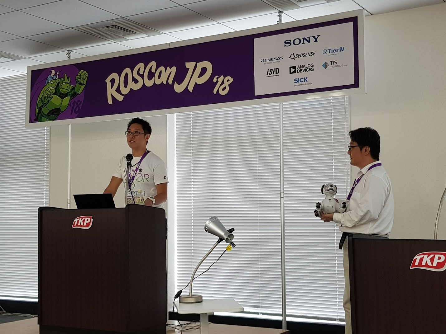 Fig 5.  Sony Corporation presented on the 'Use of ROS in Aibo and Sony's efforts
