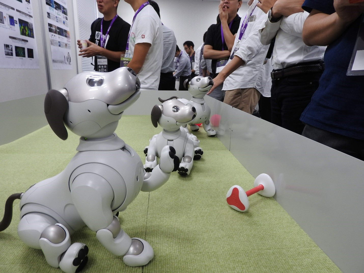 FIg 6.  The adorable Aibo on the demonstration booth by Sony Corporation