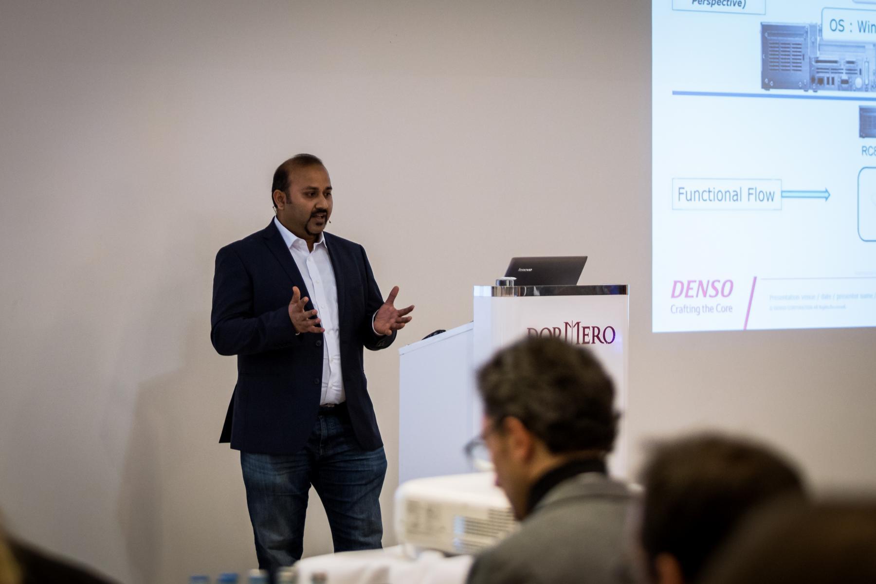 Arun Damodaran (Denso) at ROS-Inudstrial Conference 2018