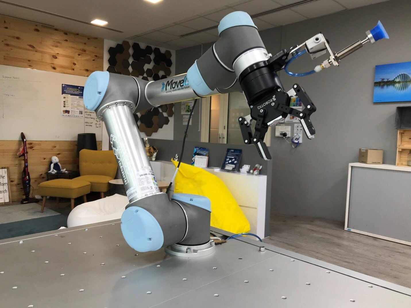 Collaborative robot setup at the ROS-Industrial Consortium Asia Pacific office