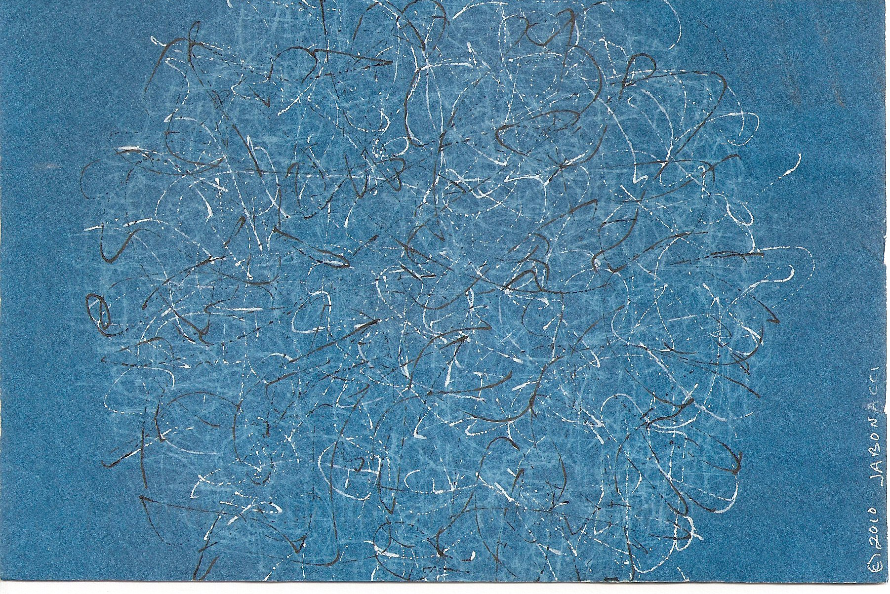 Cyanotypes , 2010, solar prints, pen and ink on watercolor paper