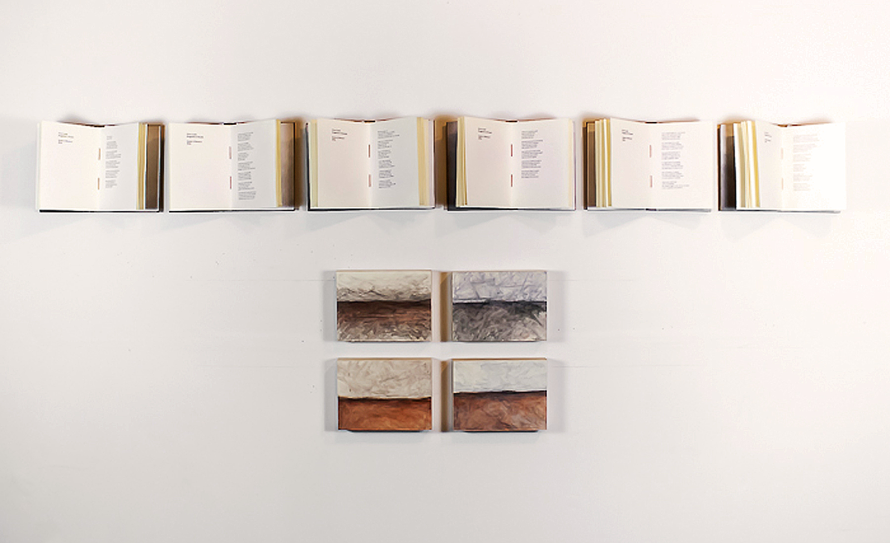 Endless Landscape and  Overland , 2014,mixed media, installation view