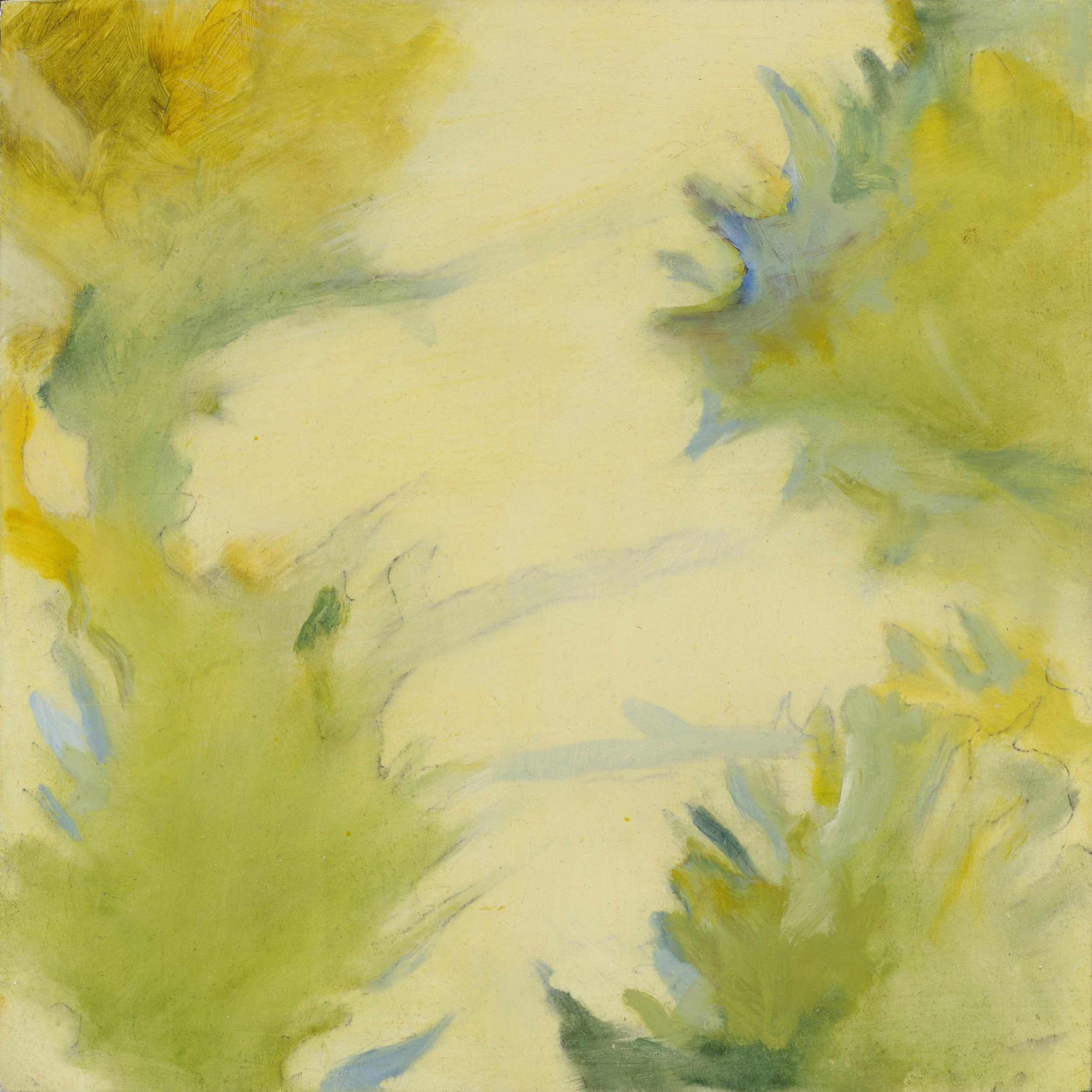 """Lorrie Fink  Thistle, Oakland/Green Gold 211 , 2013 oil on panel 10"""" x 10"""" $300"""