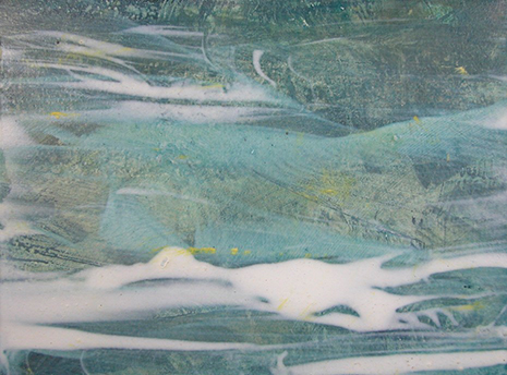 """Christel Dillbohner   In Flux VIII,  2013  oil and wax on paper mounted on wood   9"""" x 12"""" $950"""