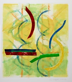 """Lary Stefl   Boa Vista #8,  2012 mixed media collage and monotype 30"""" x 22"""" $1,500"""