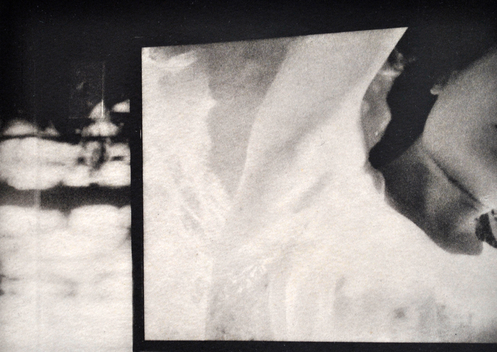 """Irene Nelson  Floating , 2014  photopolymer etching with chine-coilé on Japanese gampi paper 7"""" x 5"""" uf/ 11"""" x 14"""" f $650"""