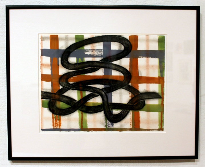 """Patricia Thomas  Double Down, 2014 charcoal and gouache on paper 16.5"""" x 20.5"""" $550"""