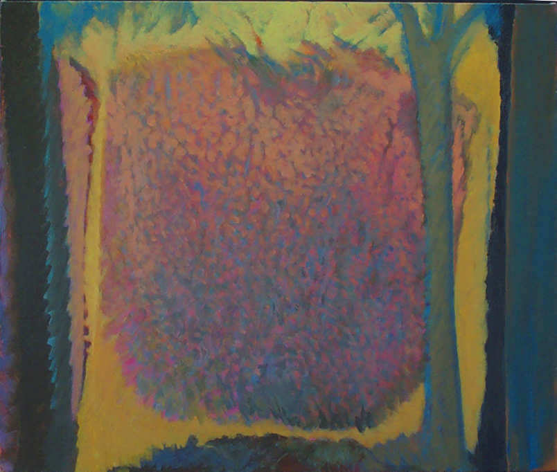 """Patricia Walsh  Shield, 2012 oil on canvas 30"""" x 36"""" $800"""