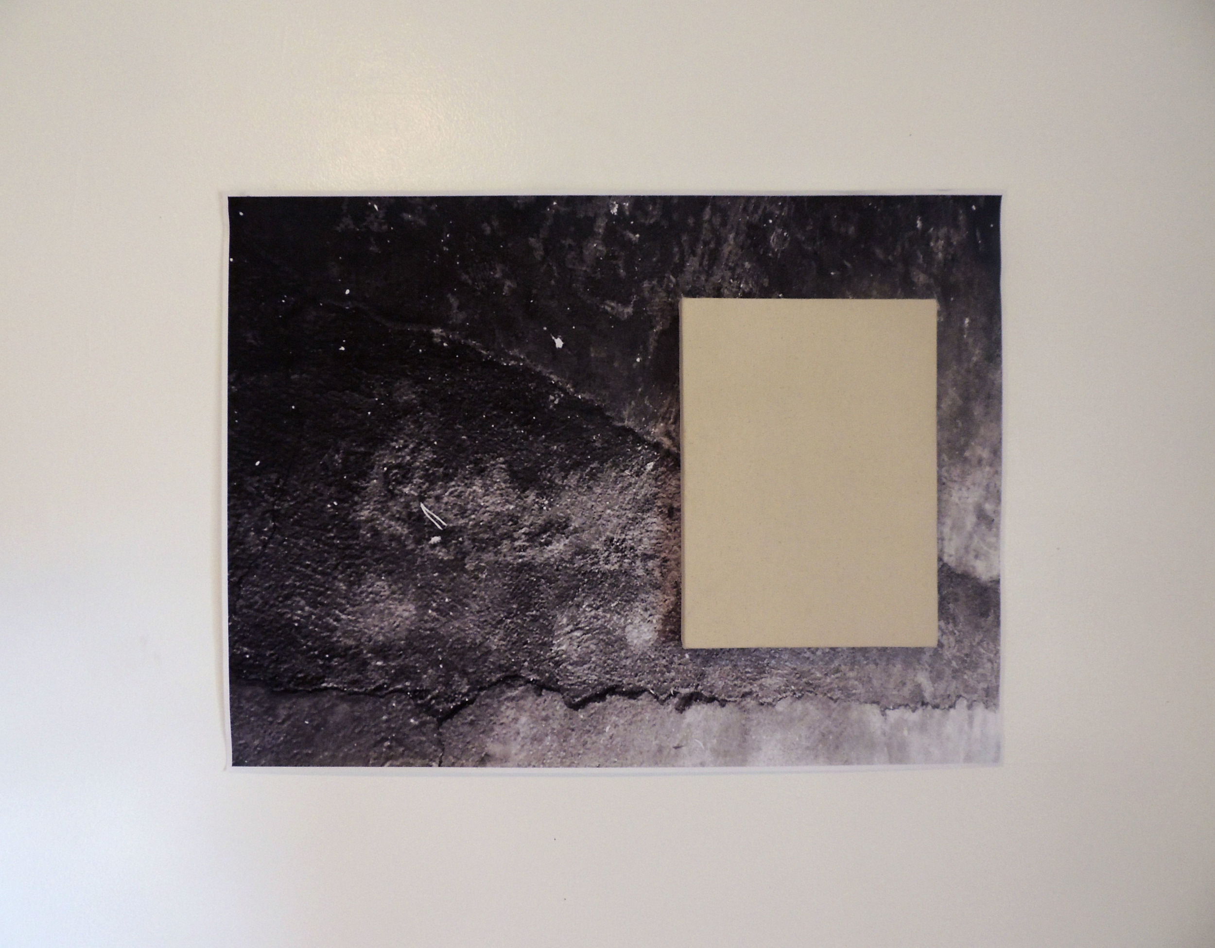 """Joshua Evan Hurwitz  Untitled,  2014 inkjet on paper, raw canvas and wooden stretchers  30"""" x 40"""" $1200"""
