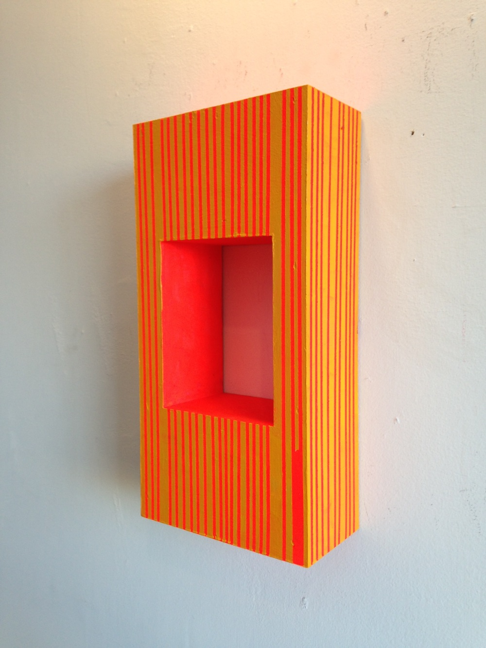 "Anthony Pinata   Circus Portal , 2015 acrylic on wood 12"" x 6"" x 3"""
