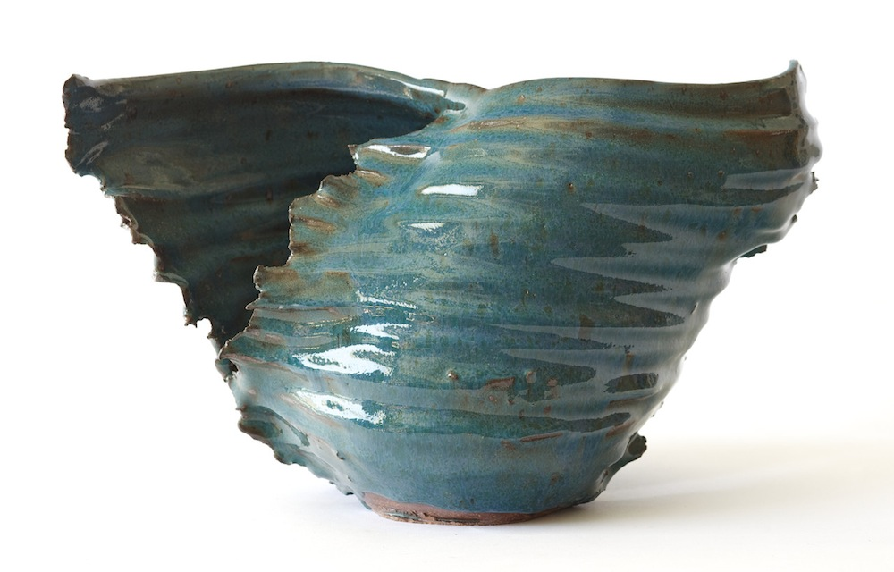 "Katie Swan   Wave , 2015 ceramic 10"" x 5"" x 5"""