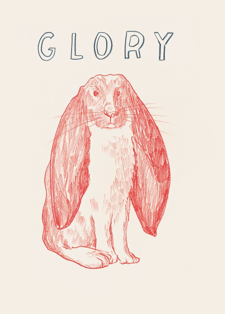 "Dave Eggers   Glory , 2015 silkscreen on paper 33"" x 28"""