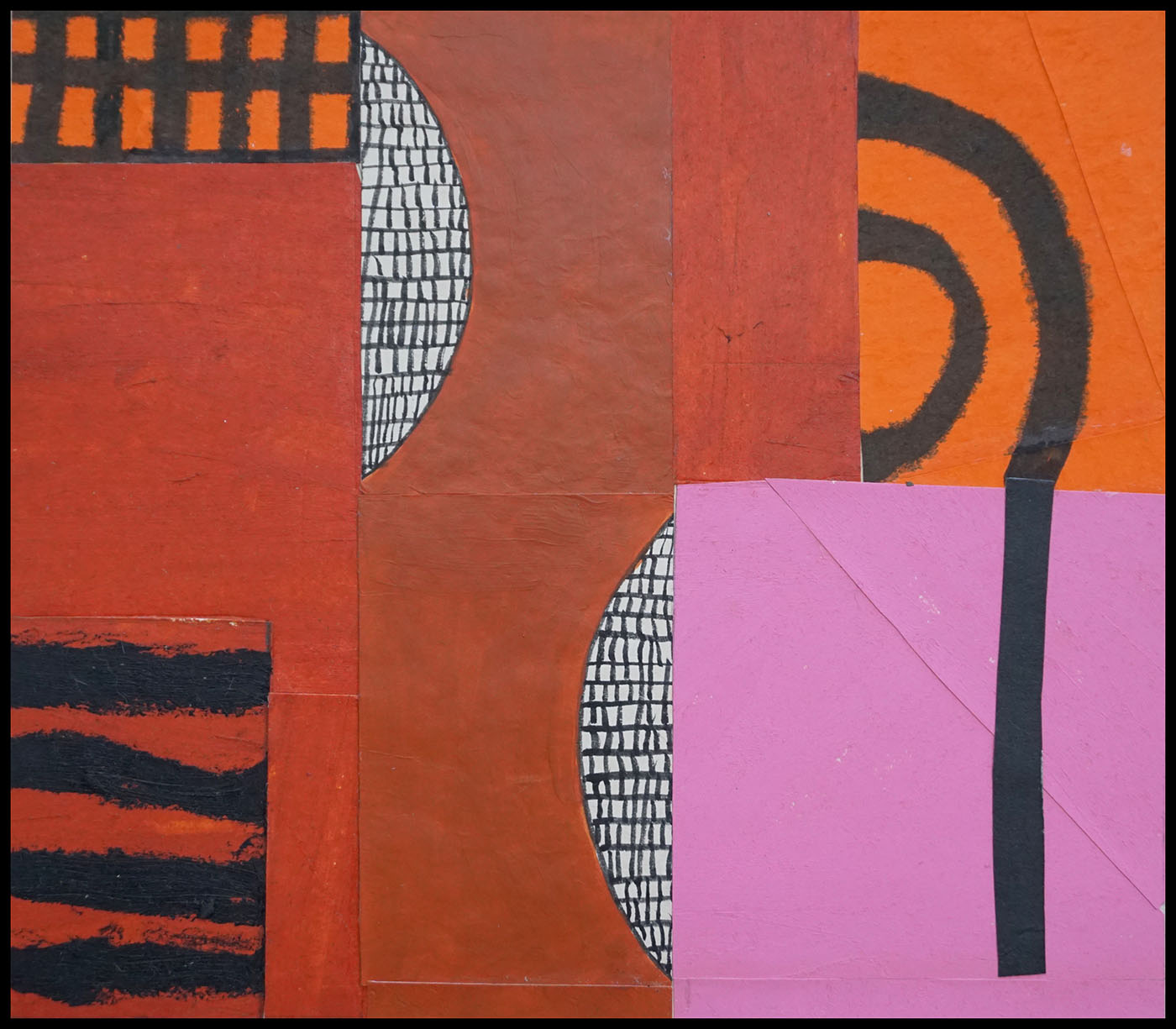 """Edith Hillinger   Red I , 2014 collage- mixed media on paper 10.25"""" x 12"""""""