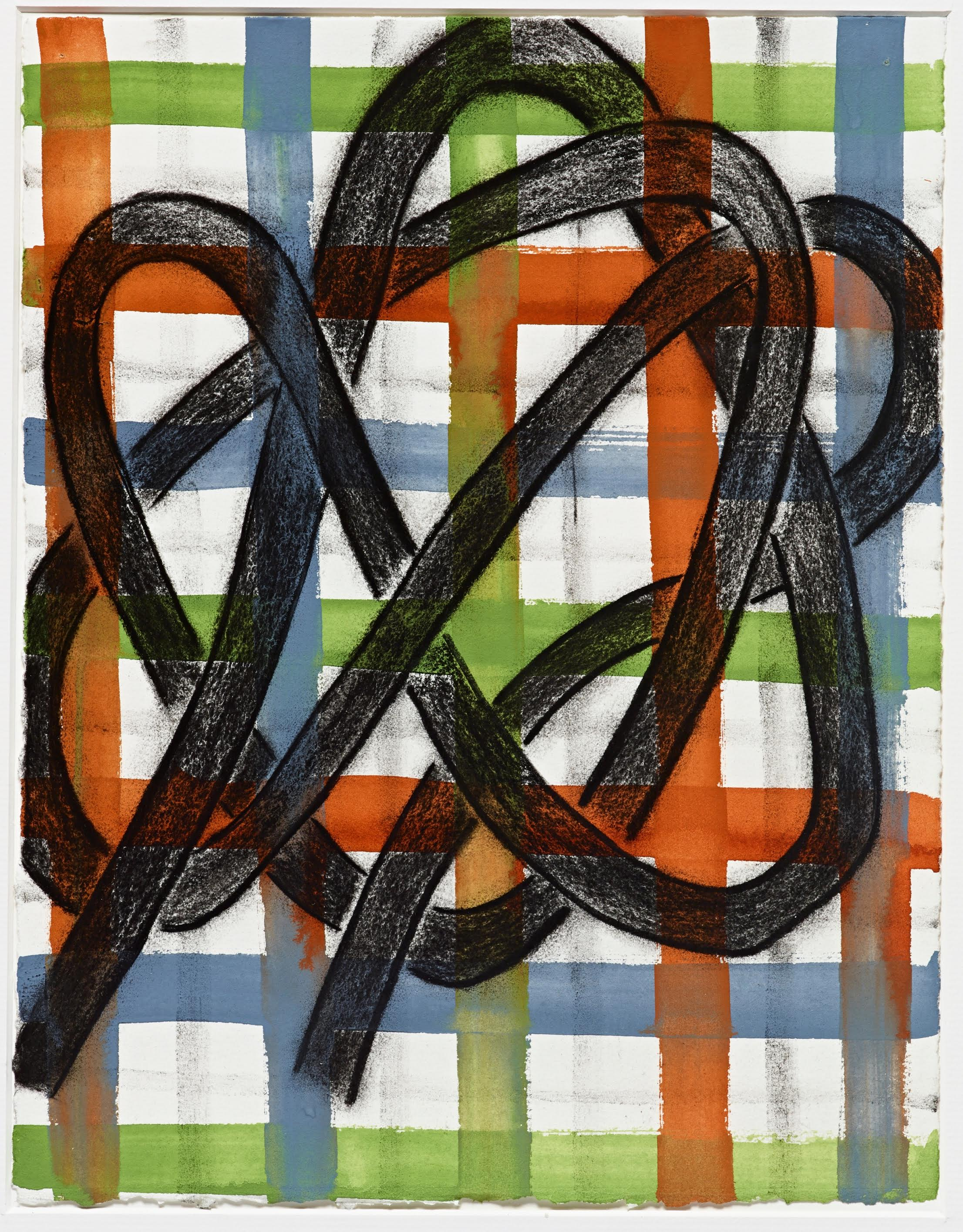 """Patricia Thomas   Standard Policy 2 , 2014 charcoal and gouache on paper 20"""" x 16"""""""