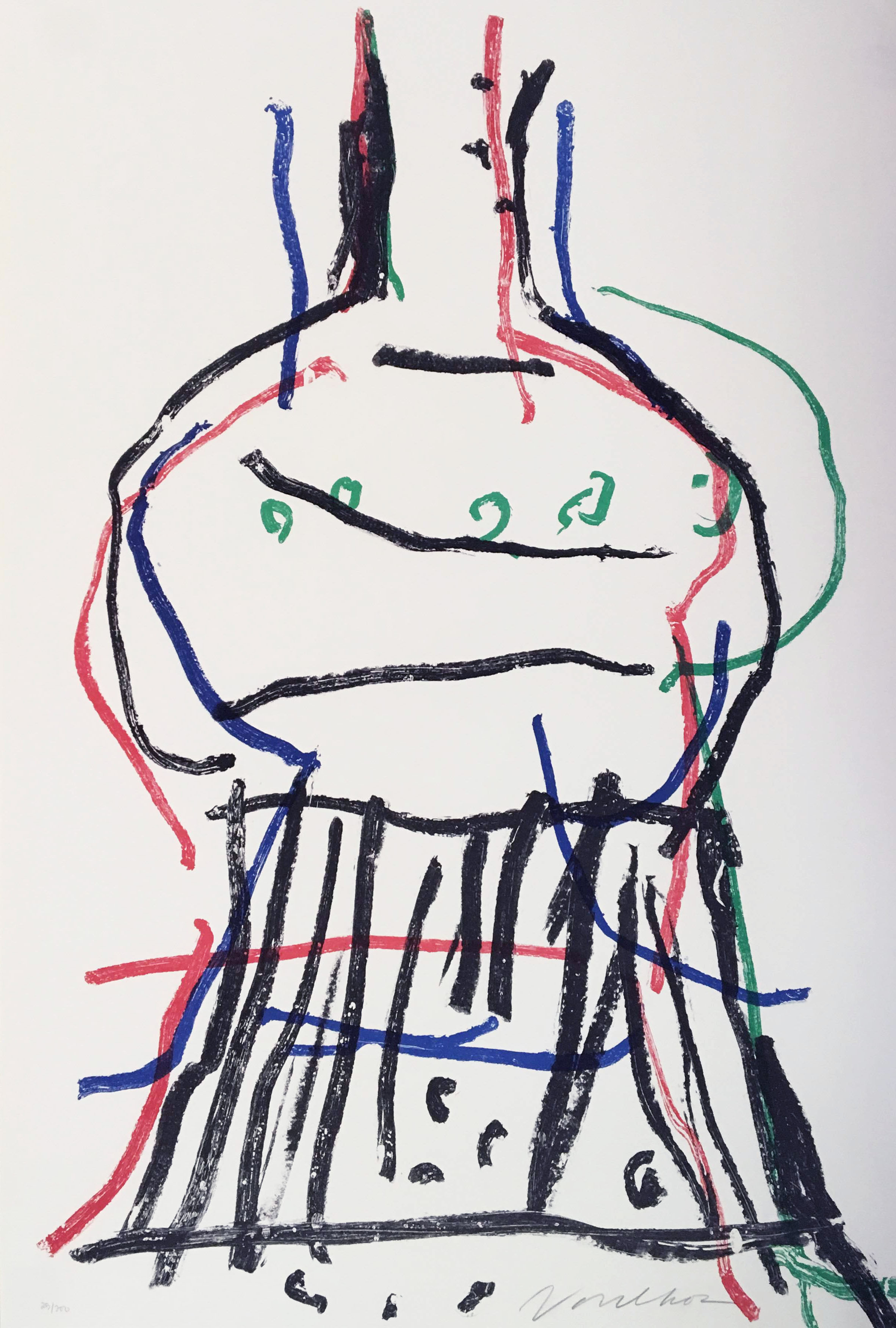 Peter Voulkos    Untitled Abstraction , 1979   signed lithograph 25/200 courtesy Ruth Braunstein