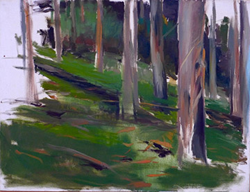 Christopher Brown  Tilden Park Study , 1983 oil on canvas 28 x 36""