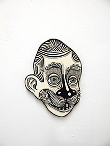 John Casey  Rex , 2016 hand-painted plywood cutout 12 x 9 x 1""