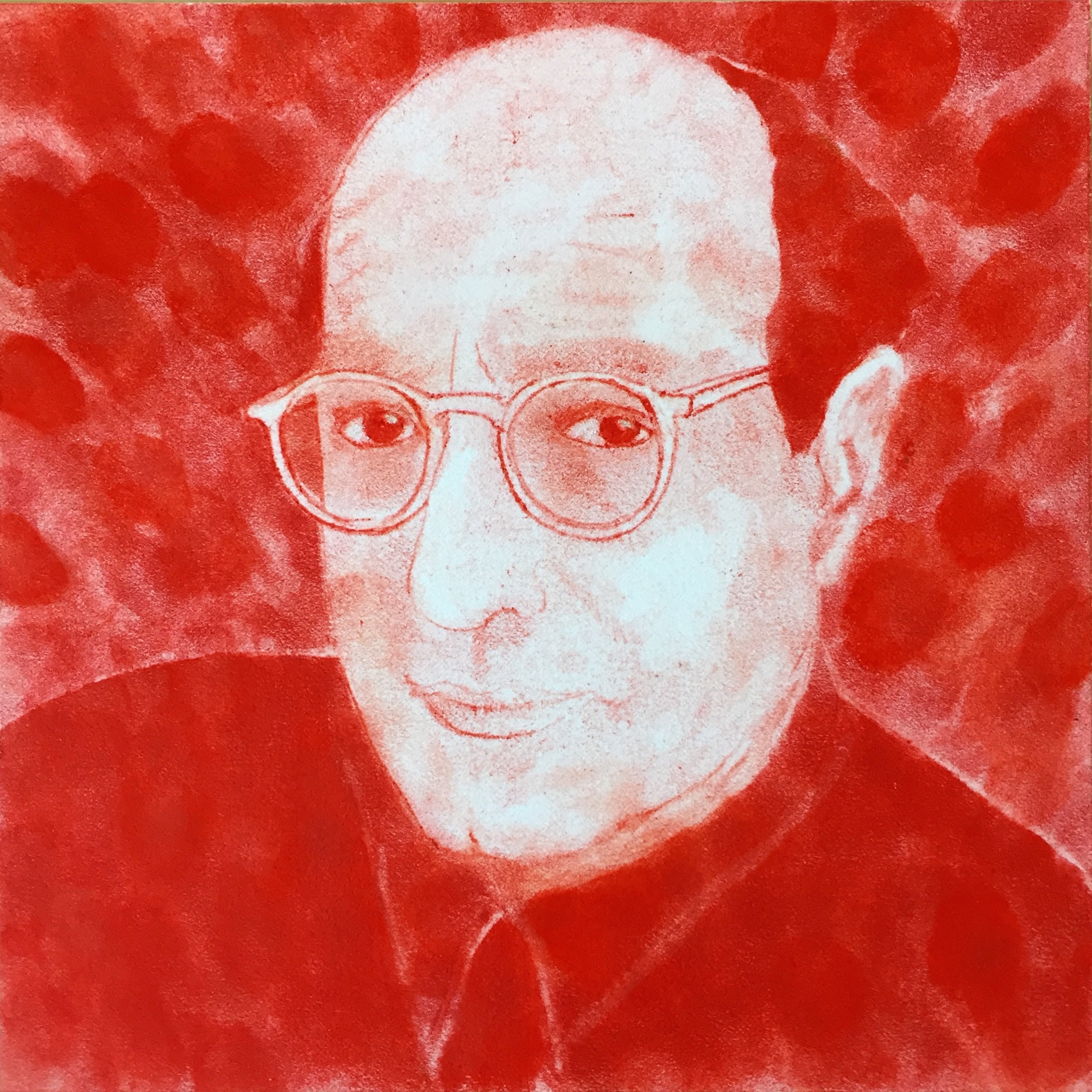 "Stephen Whisler  Mark Rothko , 2017 pastel on paper mounted on panel 8 x 8"" courtesy of Chandra Cerrito Contemporary"