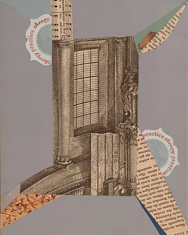 "Maria Porges  Shortest Series #96 , 2015 collage 11 x 14"" courtesy of Seager Gray Gallery"