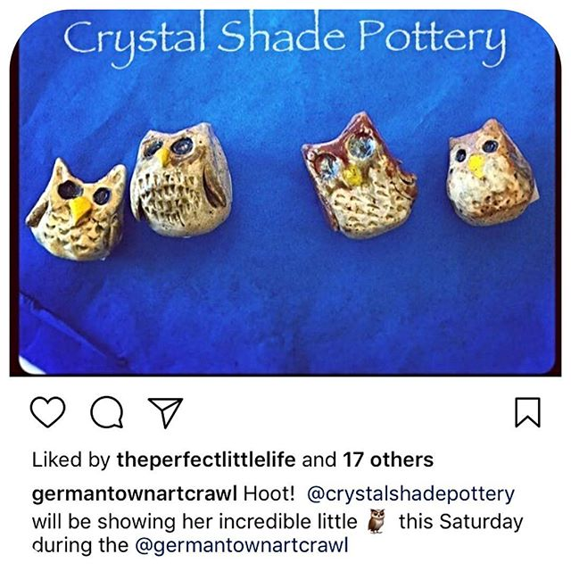 Germantown Art Crawl tomorrow at 100 Taylor St 4-9pm.  Local artists, food, beer and shops!! I can't wait to check out @crystalshadepottery !! #germantownnashville #art #nashville #local #smallbusiness