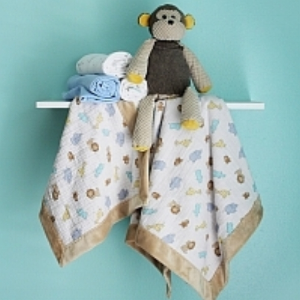 Self-Binding Baby Blanket and Lovey   (uses Shannon Cuddle and Shannon Embrace Double Gauze)
