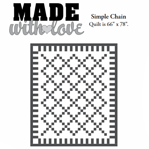 Simple Chain     quilt pattern from Moda Fabrics