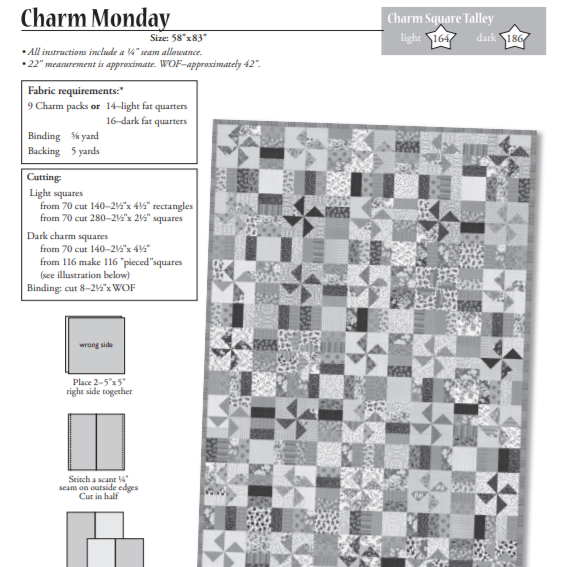 Charm Monday     (uses a charm pack)