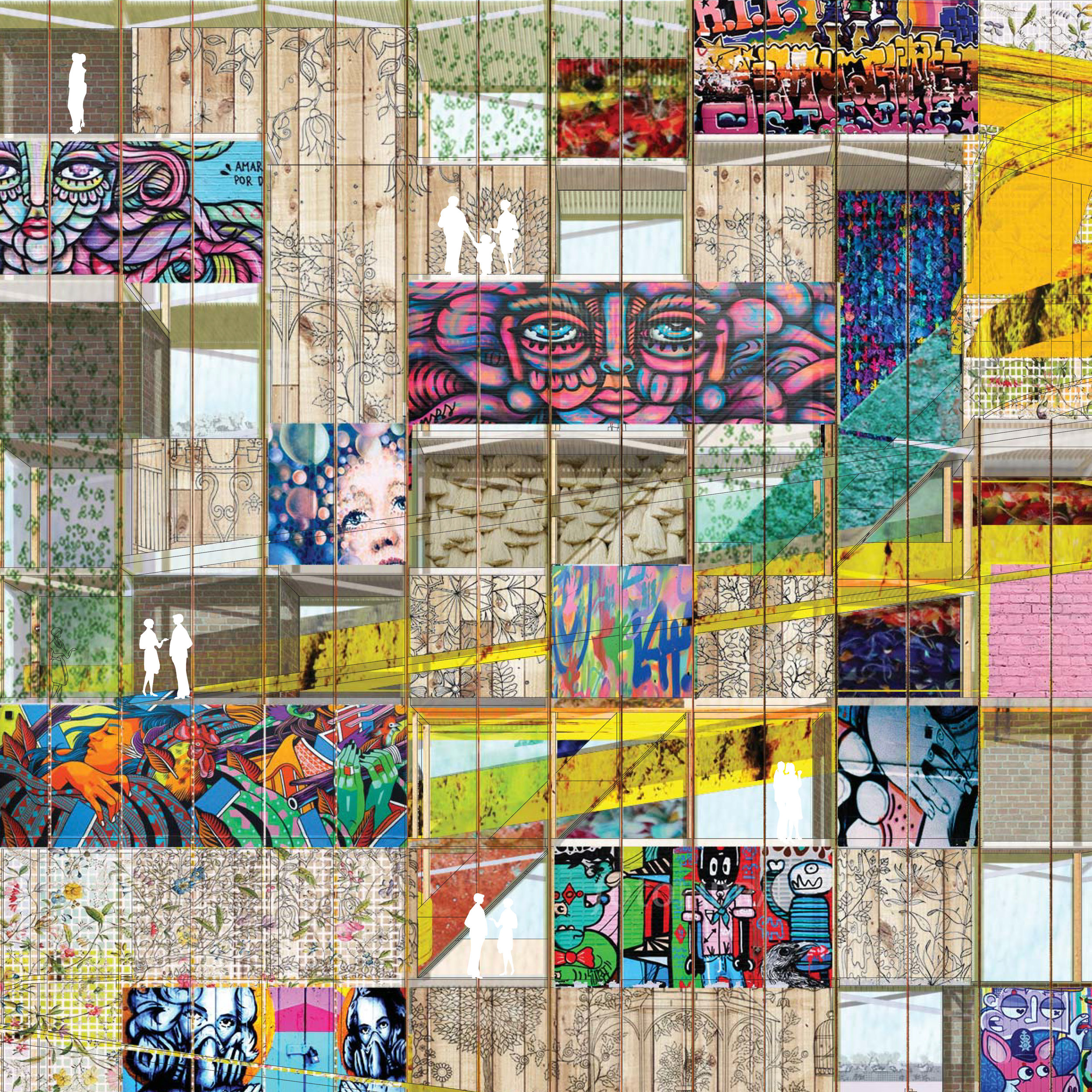 — what if reframing two stereotypes erases both of those stereotypes? - graffitea garden| public space design & program strategy