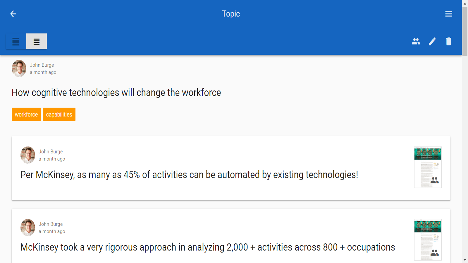 Topics - a powerful way to collect and share insights (yours and your peers)
