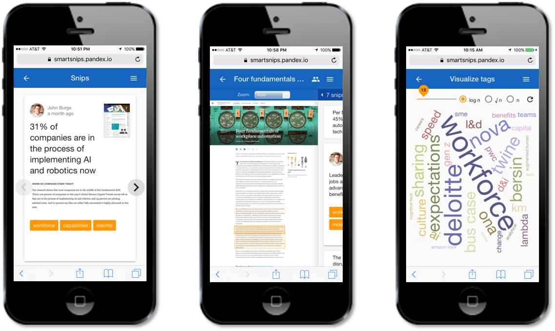 Fast access to organization-wide insights, document viewer, visualized analytics and more...