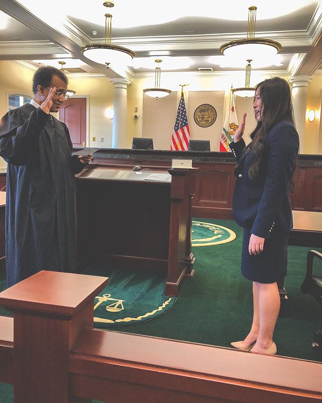 Today, I was sworn in to the State Bar of California, officially making me an attorney. My firm arranged a private ceremony with a Justice close to the firm from the State Court of Appeals, and as he was swearing me in, I couldn't help but get emotional. As he said to me, it's hard to describe and appreciate the work that goes into getting this far, but you just know that the path getting here was not easy. I am so proud of the path I took because it brought me here, and I'm so thankful to all those around me who made this possible. You can call me esquire now!