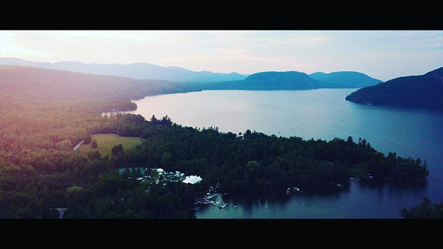 Northern Lake George sunset.  #lakegeorge #lakegeorgeny #lakegeorgeweddings #wedding #weddingonthelake #sunset #adirondacks #adirondackmountains #adirondackwedding