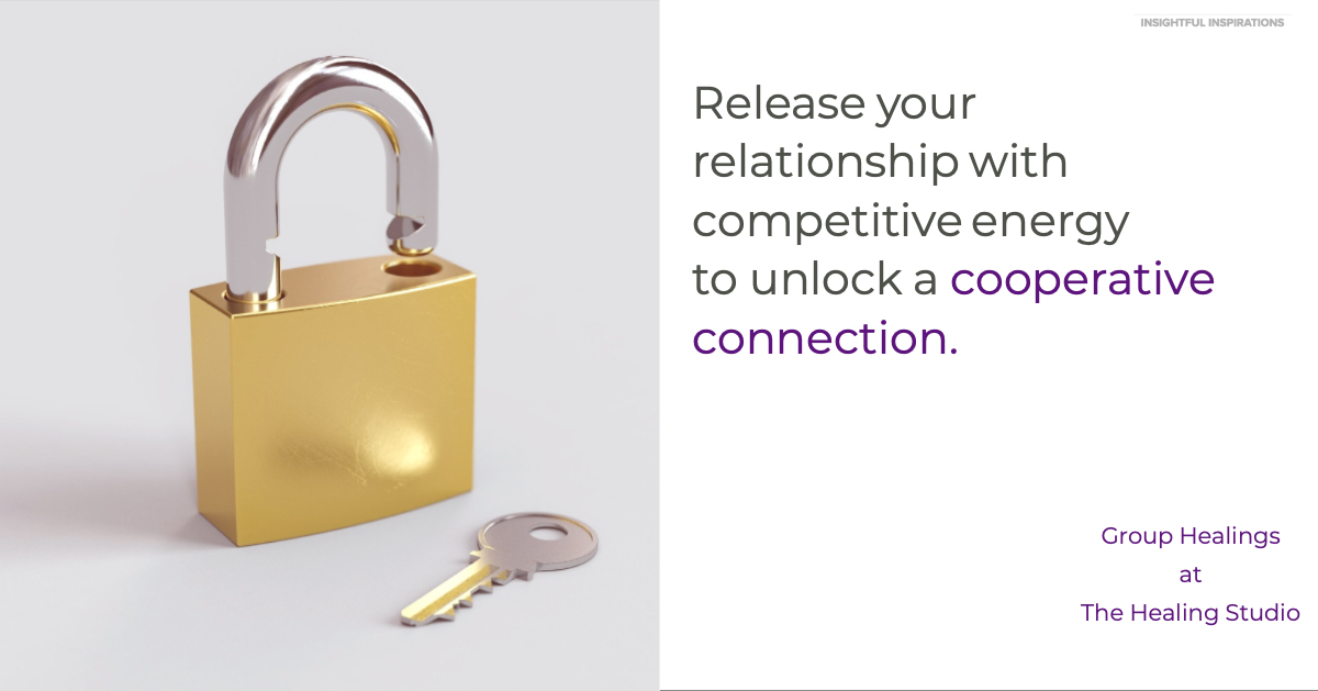 Release the relationship with competitive energy to unlock a cooperative connection.
