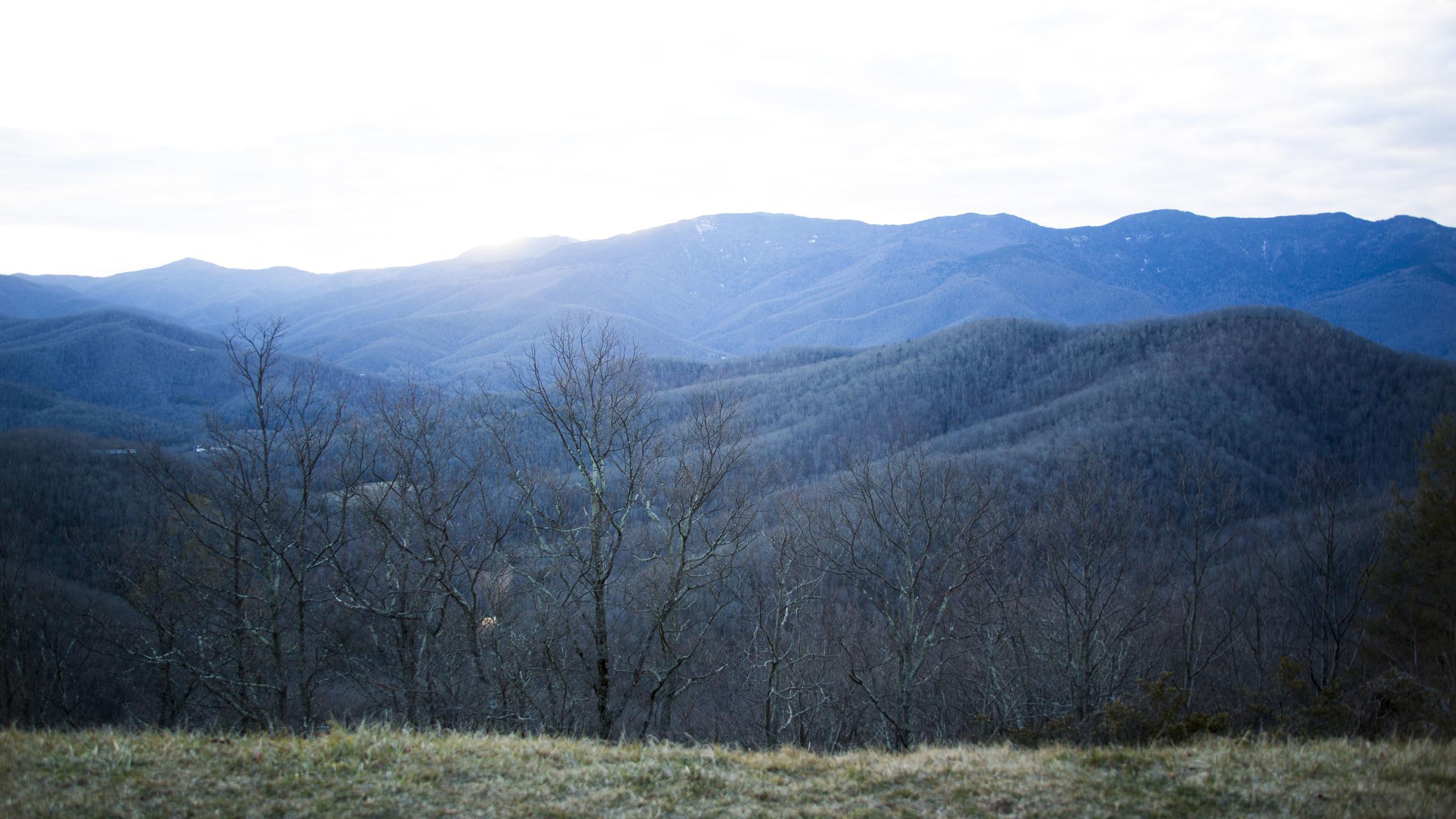 Blue Ridge Mountains in North Carolina.