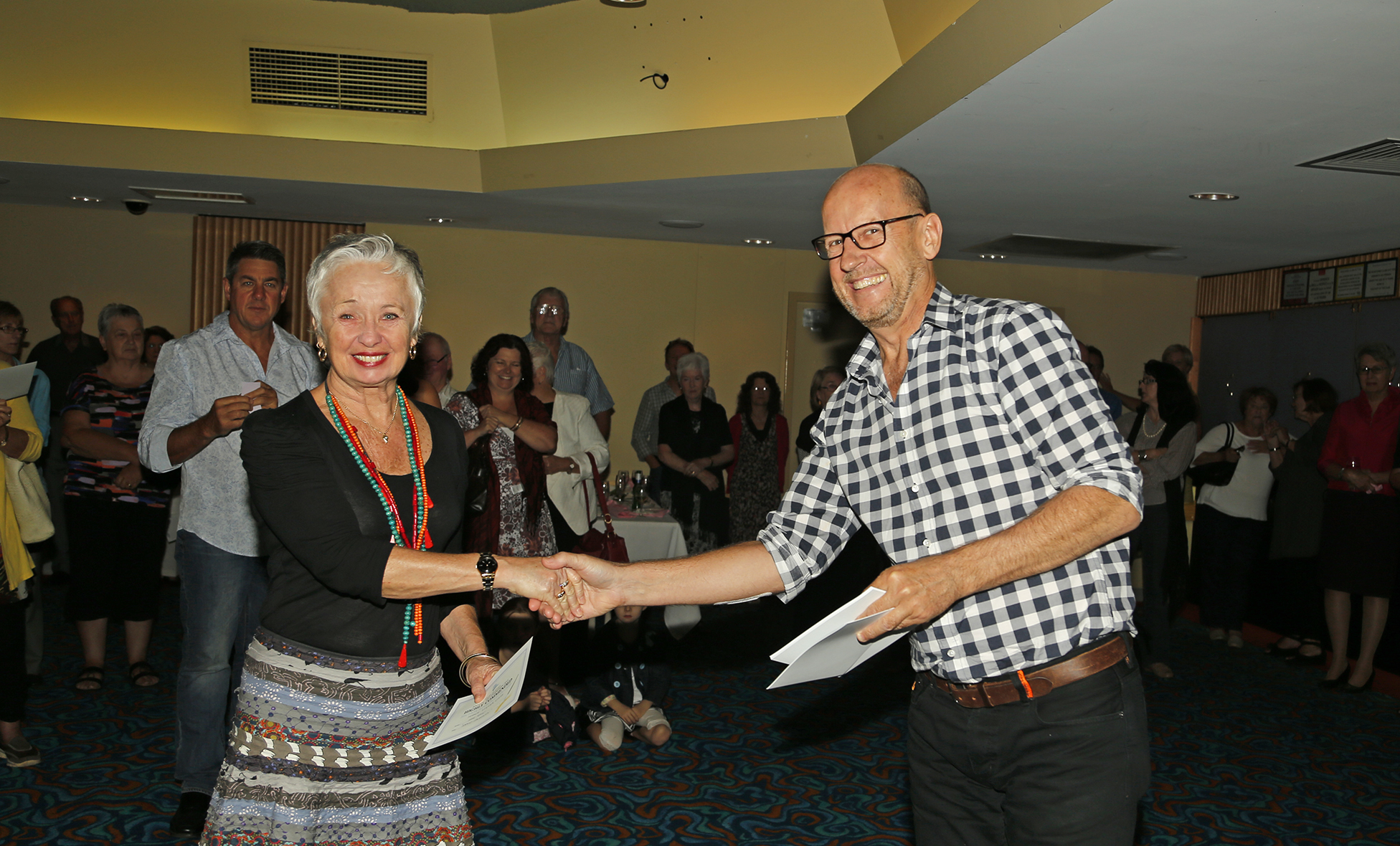 Sue Kelly receiving  award 2015