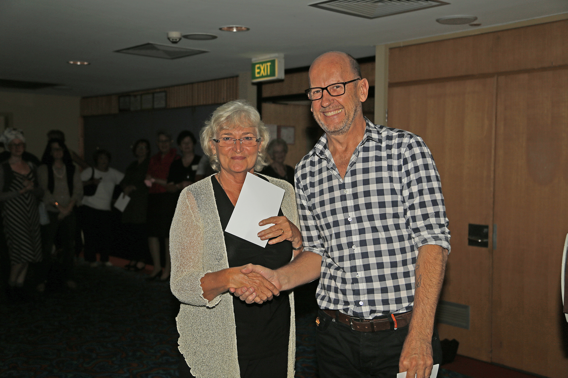 Helen Graig with Peter Wood 2015