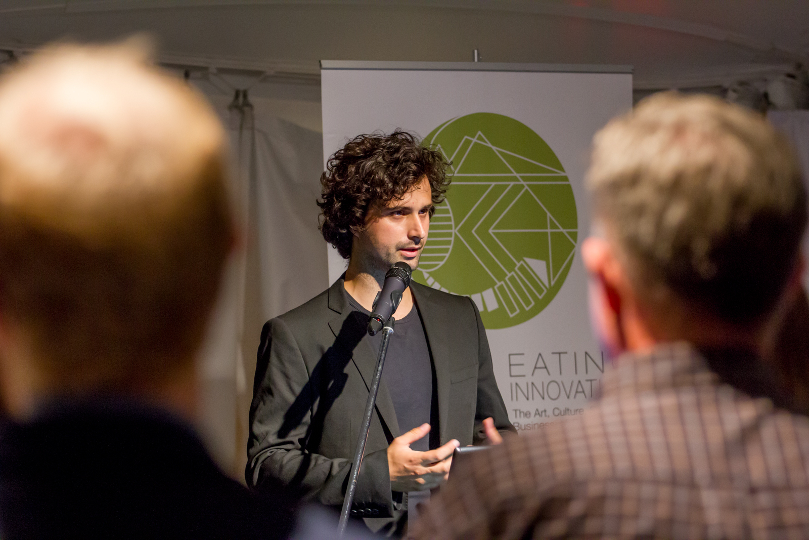 Kubo Dzamba, Future Food Salon 2014 at the Eating Innovation conference, Space for Life Botanical Gardens & Insectarium, Montreal.