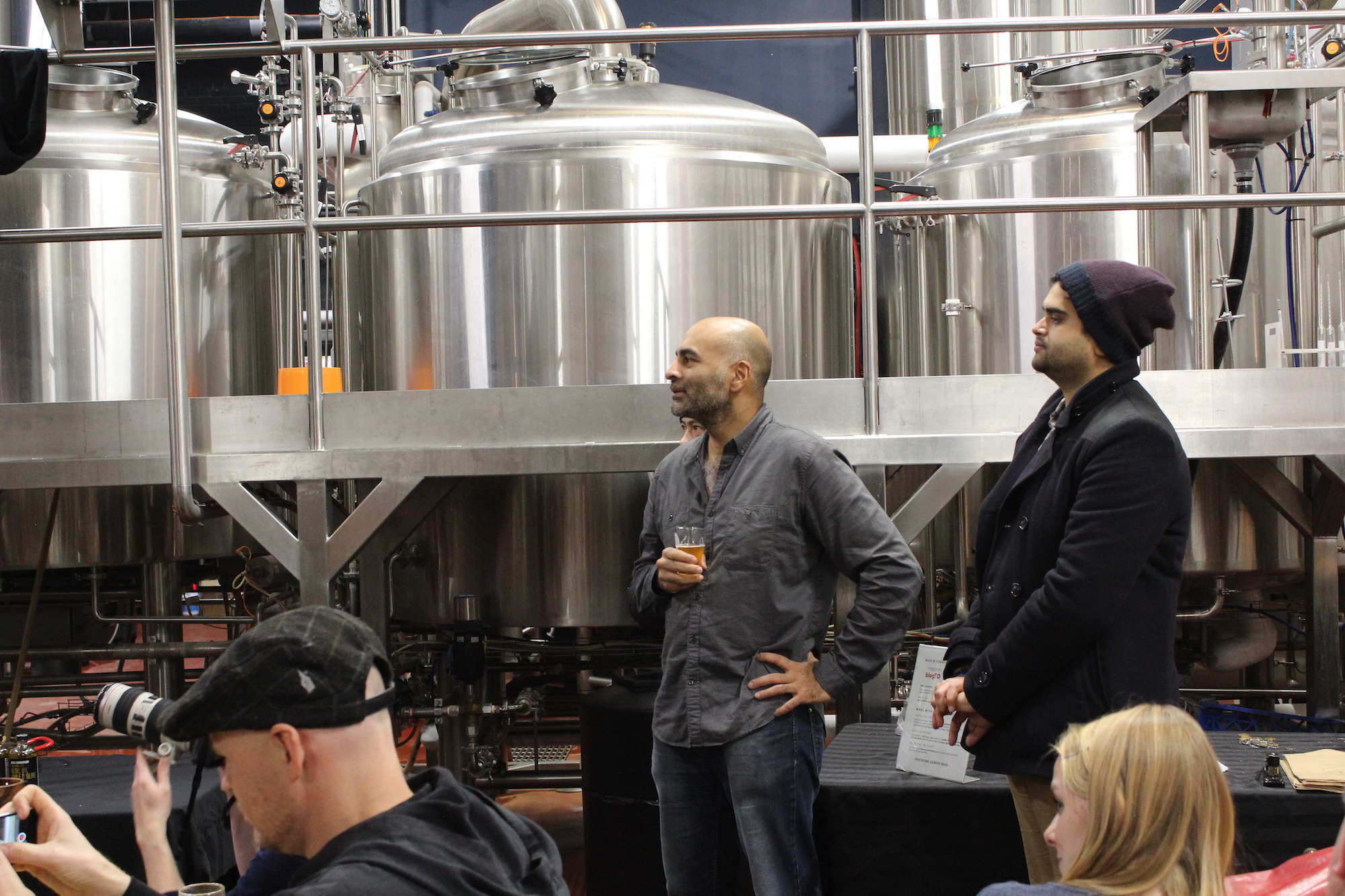 Dihan Chandra, at Henderson Brewery with a glass of Sourdough IPA in his hand. Spent grains from Henderson brewery are reclaimed and baked into Spent Good's sourdough bread.