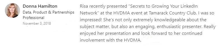 donna hamilton recommendation from linkedin.JPG