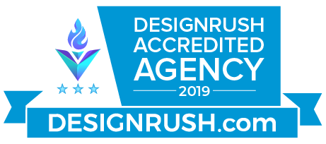 Proud to be a DesignRush agency.