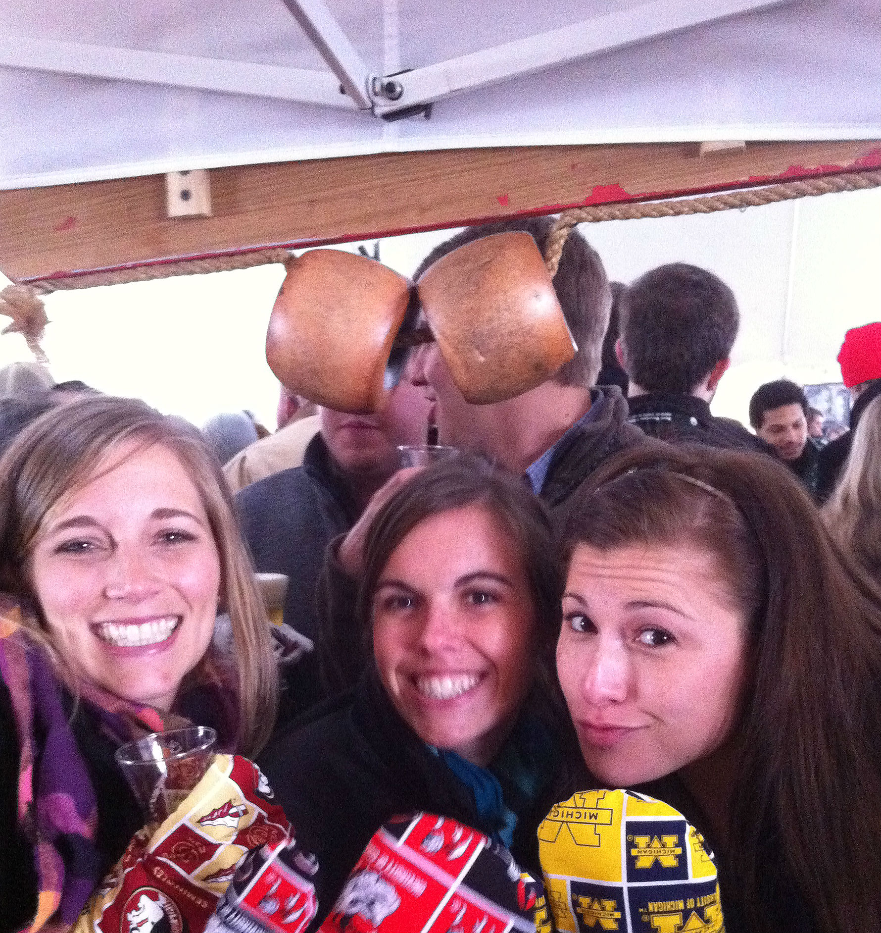 Some of our customers wearing their hand sewn team cooking mitts at the Beer & Bourbon BBQ festival in Atlanta.