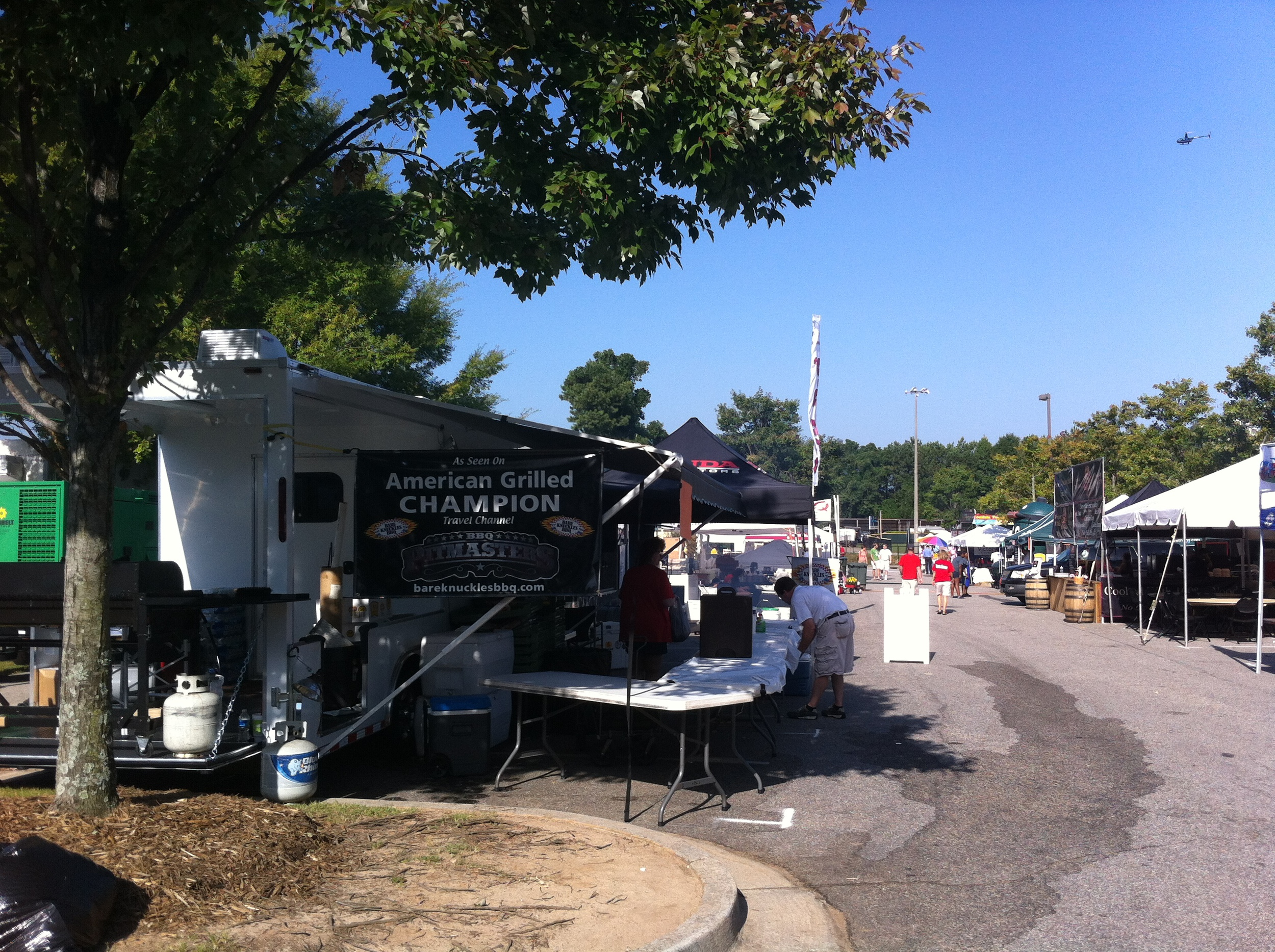 My tent was set up right across from one of the PitMaster Champions BBQ vendors...almost time to open!