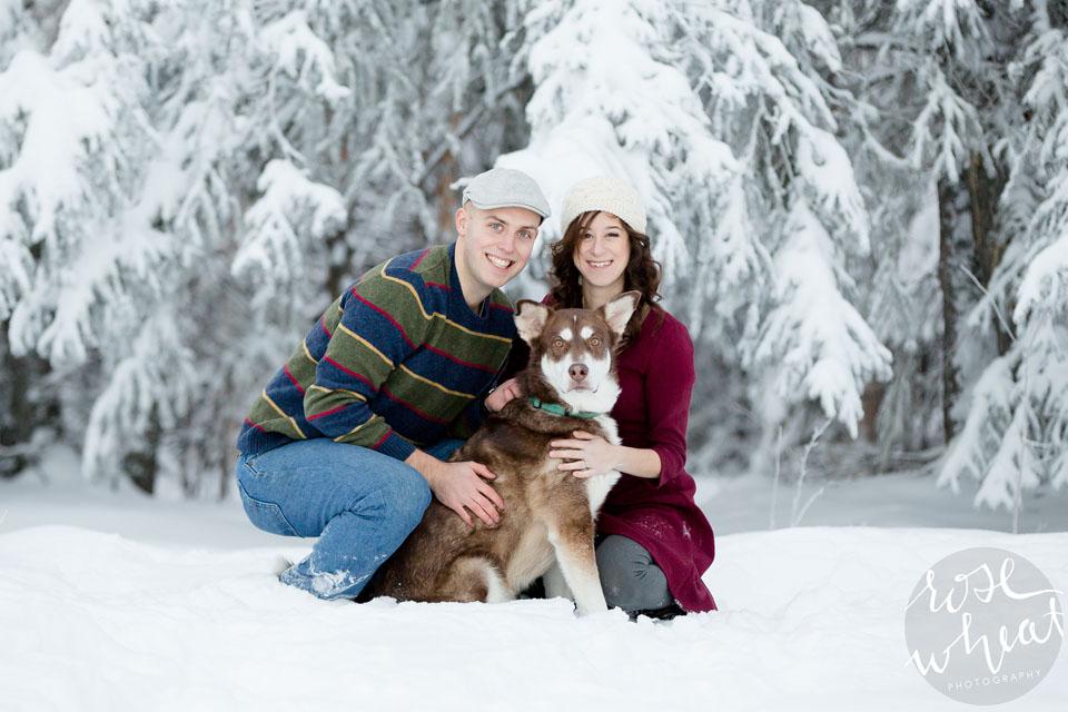 001. Fairbanks_Alaska_Winter_Engagement_Spruce_Trees_Huskie.jpg