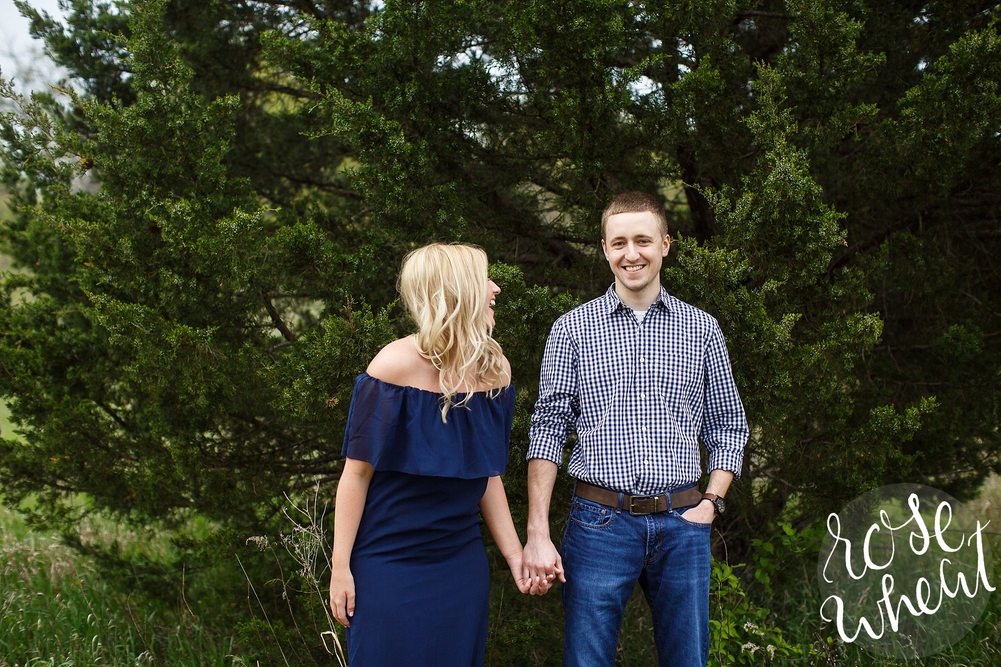 konza prairie engagement photos