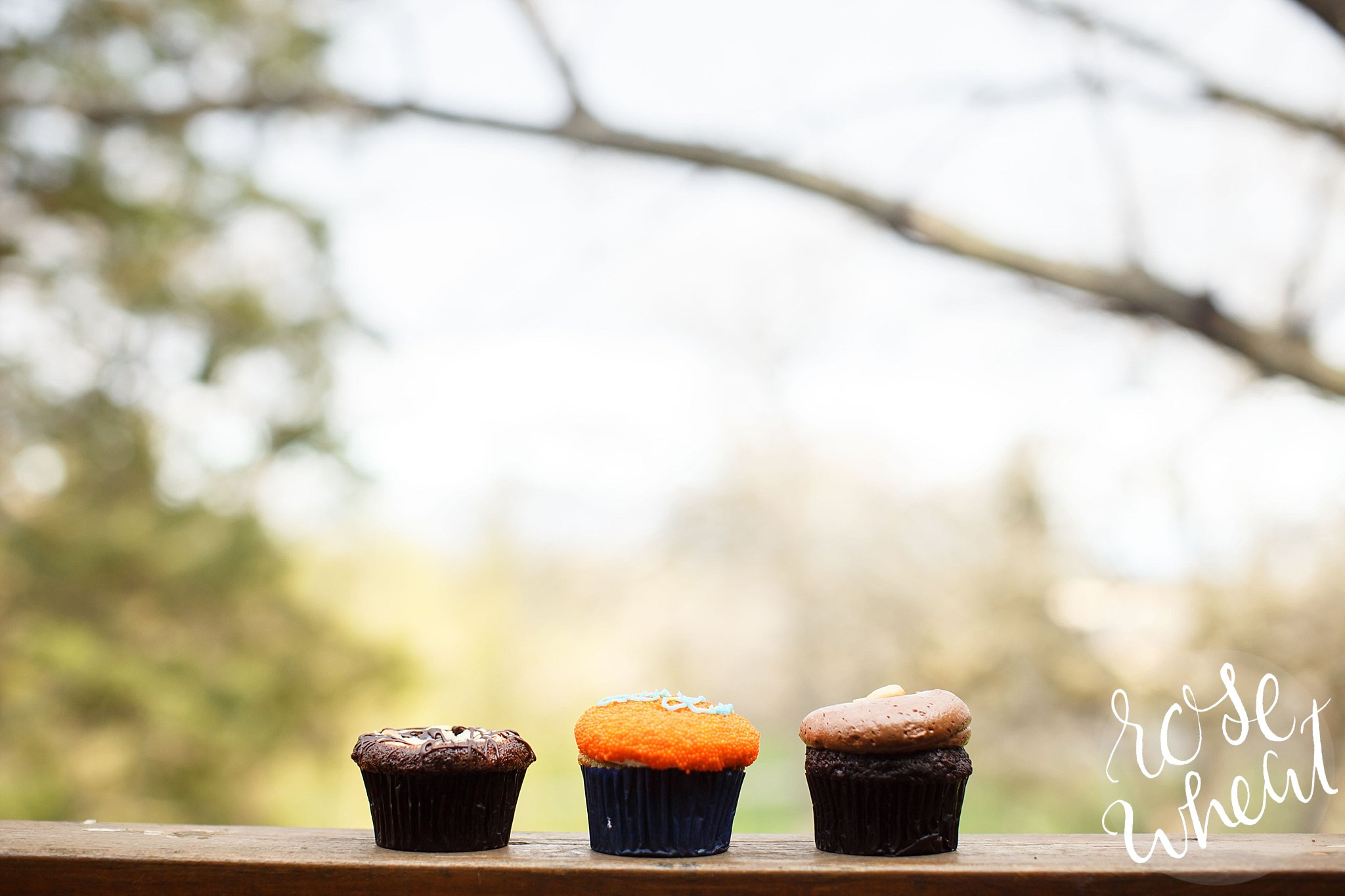 """We got some cupcakes from the Mall of America to celebrate Shelley's birthday! Mine (the middle one that reads """"Yay!"""") was vanilla filled with chocolate mousse. Heavenly!"""