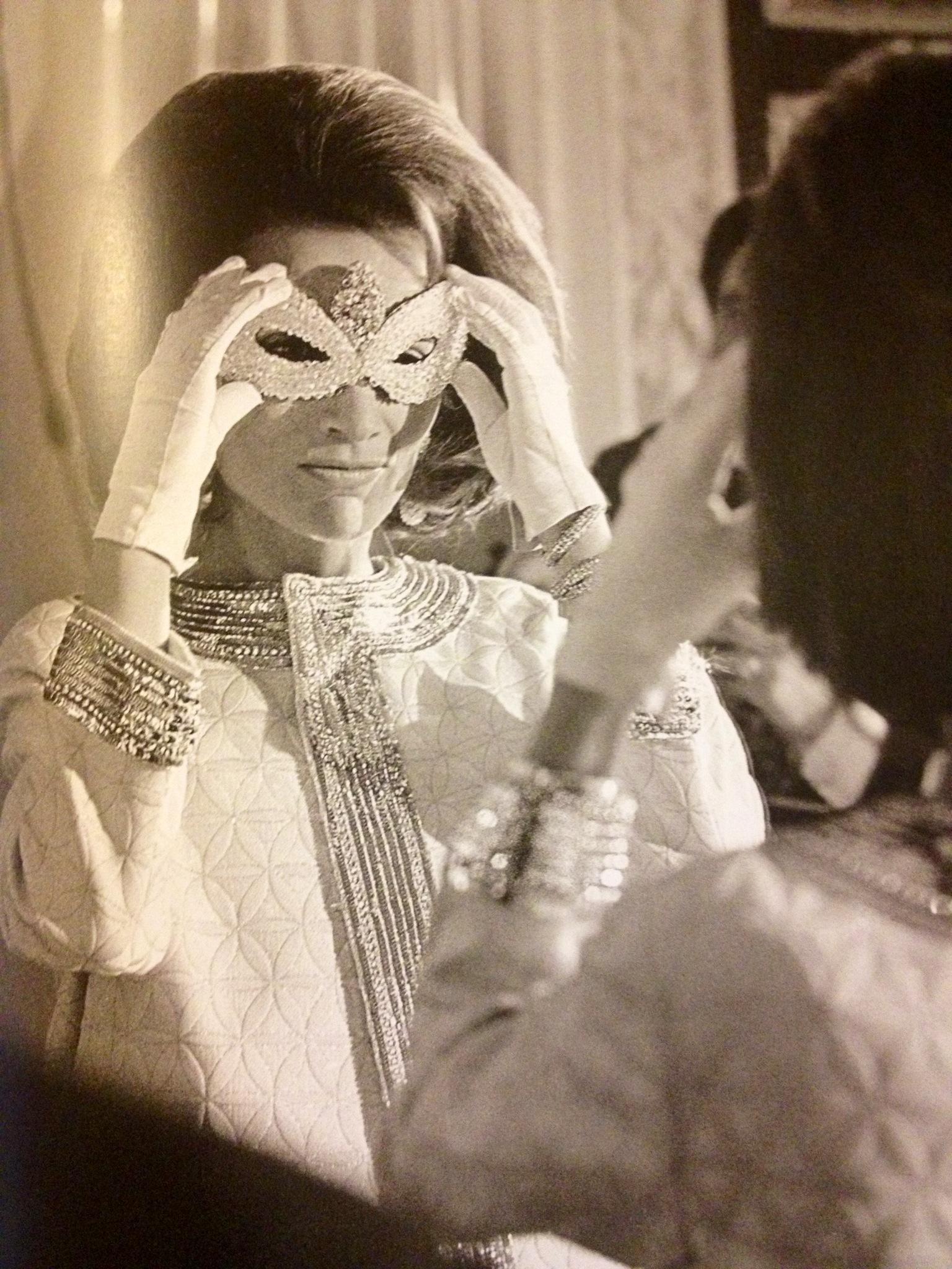 Lee Radziwill en masque