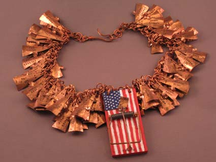 Trapped by Patriotism necklace