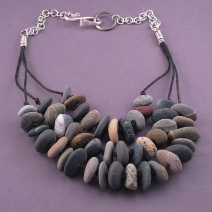 Necklace with Maine beach stones