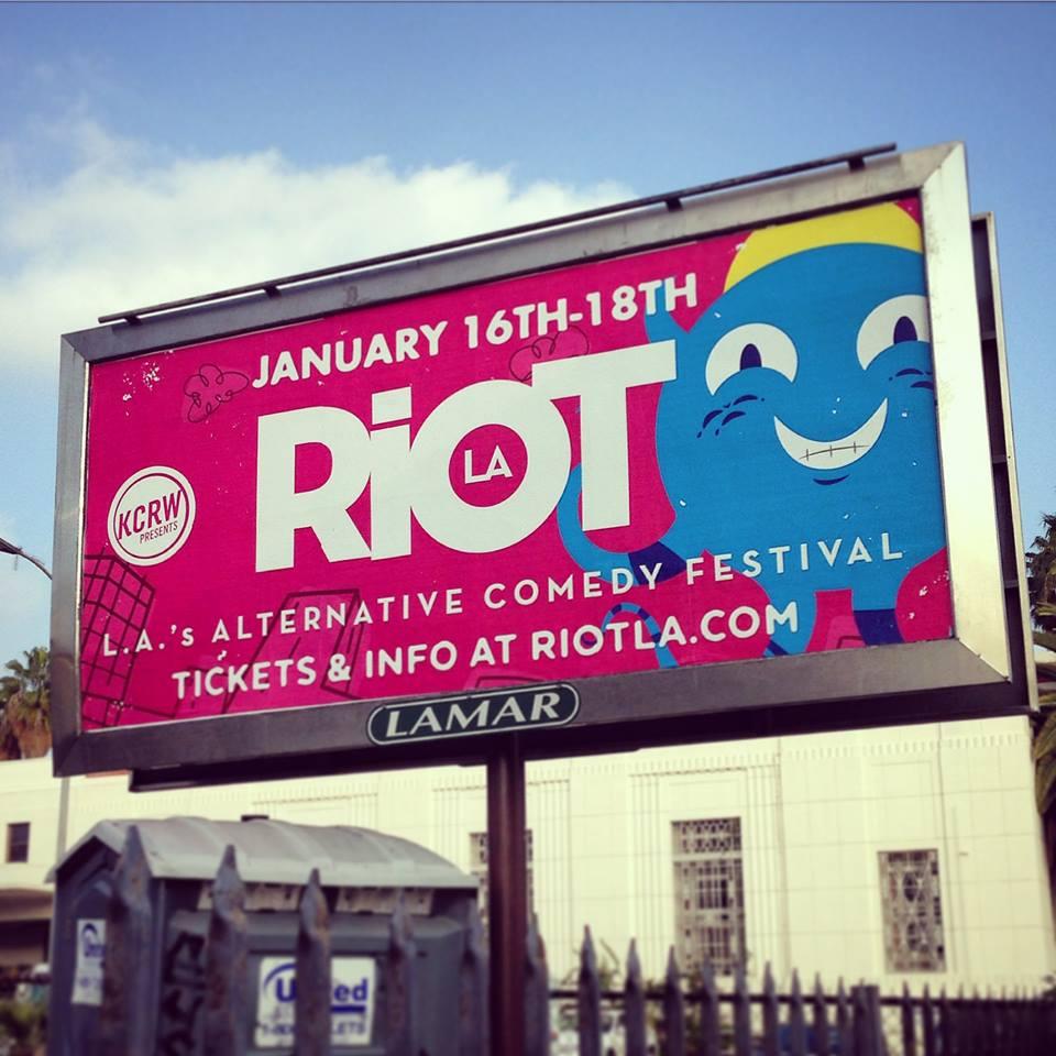 RIOTLA Festival design by  Garrett Ross  , RIOTLA website by  Landen Celano  & logo by  Cerebral Itch  .
